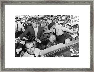 Kennedy With Albert Gore Framed Print