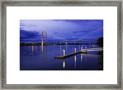 Framed Print featuring the photograph Kennewick Bridge 2 by Sonya Lang