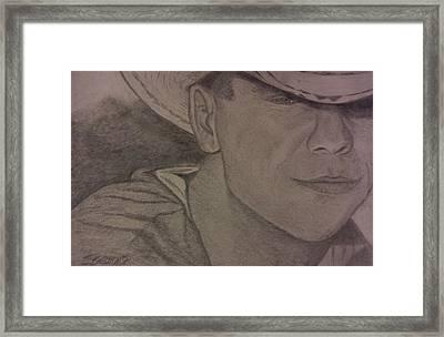 Kenny Chesney Framed Print by Christy Saunders Church
