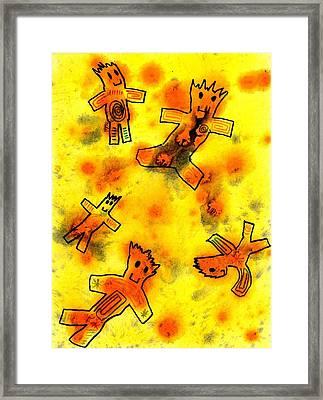 Kennybot Number 1 Framed Print by Kenny Henson