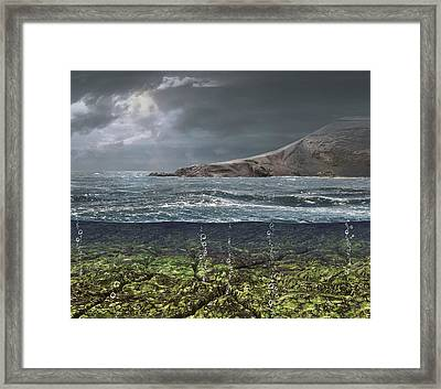 Kenorland Prehistoric Landscape, Artwork Framed Print by Science Photo Library