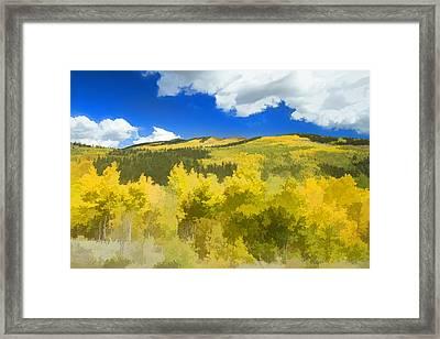 Kenosha Pass Colors Framed Print