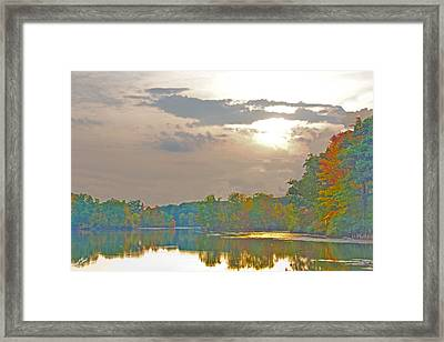 Kensington Autumn Sunset Framed Print