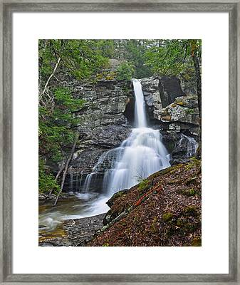 Kent Falls State Park Ct Waterfall Framed Print by Glenn Gordon