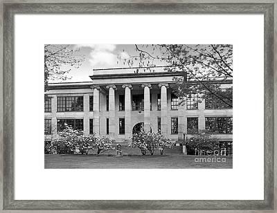 Kent State University Kent Hall Framed Print by University Icons