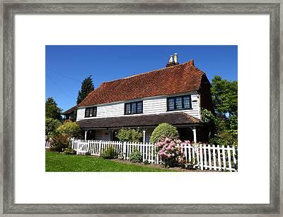 Typical Kent Cottage England Framed Print by James Brunker