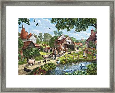 Kentish Farmer Framed Print by Steve Crisp