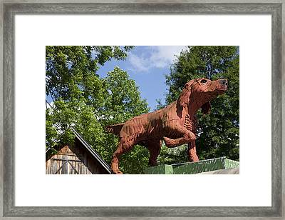 Kentuck Fine Art Gallery Dog Located In Northport Area Of Tuscaloosa Framed Print by Carol M Highsmith