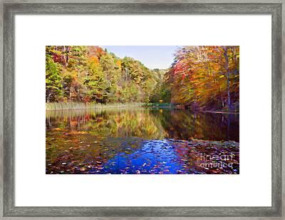 Kentucky Autumn Pond Framed Print
