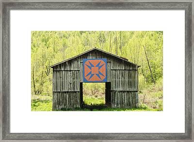 Kentucky Barn Quilt - Happy Hunting Ground Framed Print