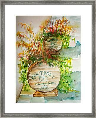 Kentucky Bourbon Barrels Framed Print
