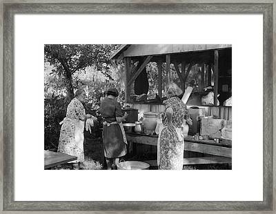 Kentucky Church Dinner Framed Print by Granger