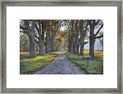 Kentucky Country Lane Framed Print by Wendell Thompson
