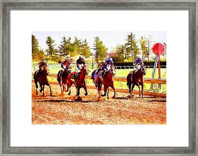 Kentucky Derby Framed Print by Kai Saarto