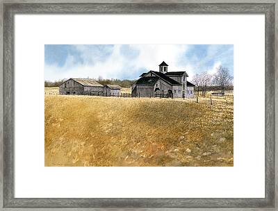 Framed Print featuring the painting Kentucky Farm by Tom Wooldridge