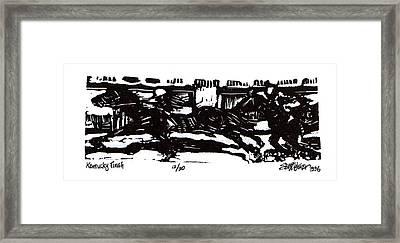Kentucky Finish Framed Print by Seth Weaver