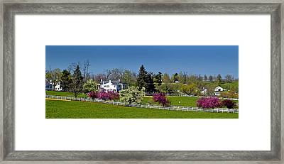 Kentucky Horse Farm Framed Print by Randall Branham