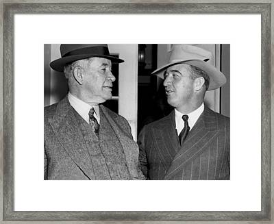 Kentucky Senators Visit Fdr Framed Print by Underwood Archives