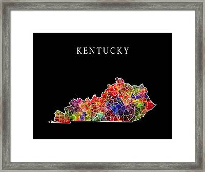 Kentucky State Framed Print