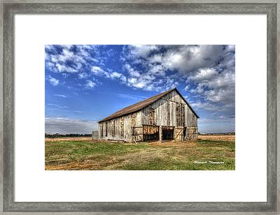 Kentucky Tobacco Barn Framed Print