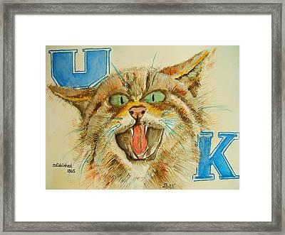 Kentucky Wildcats Framed Print