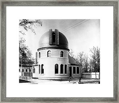 Kenwood Observatory Framed Print by Yerkes Observatory, University Of Chicago, Courtesy Emilio Segre Visual Archives/american Institute Of Physics