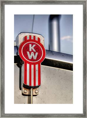 Kenworth Hood Logo 34709 Framed Print