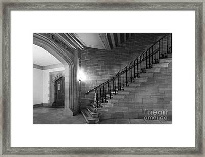 Kenyon College Peirce Stairway Framed Print by University Icons