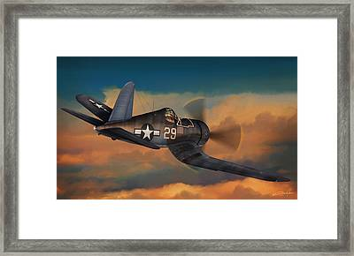 Kepford On Patrol Framed Print by Dale Jackson