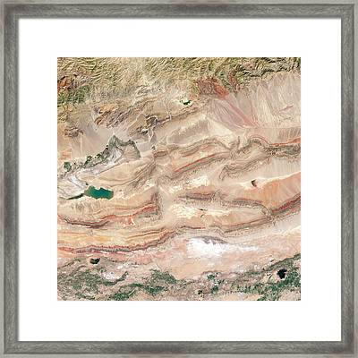 Keping Shan Thrust Belt Framed Print by Nasa Earth Observatory