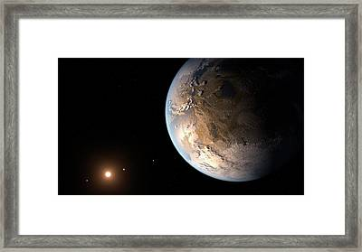 Kepler-186f Exoplanet Framed Print by Nasa/ames/seti Institute/jpl-caltech
