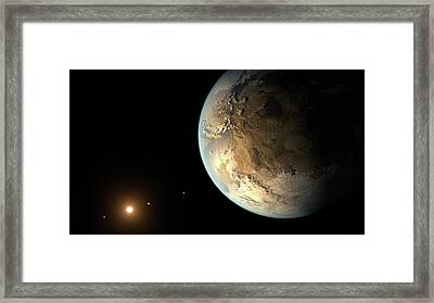 Kepler-186f Framed Print by Nasa/ames/seti Institute/jpl-caltech