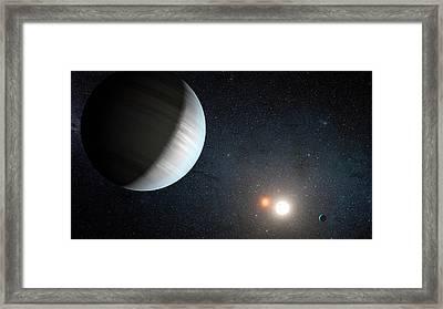 Kepler-47 Planetary System Framed Print by Nasa/jpl-caltech/t. Pyle