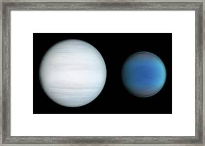 Kepler-47b And Kepler-47c Framed Print by Nasa/jpl-caltech/t. Pyle