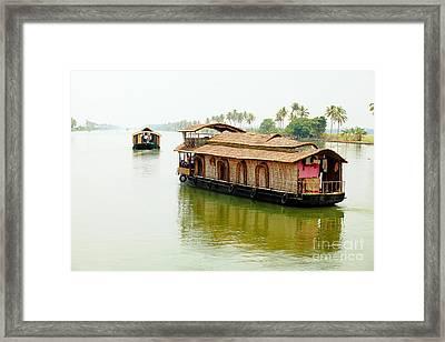 Kerala Houseboats Framed Print