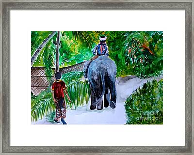 Framed Print featuring the painting Kerala by Saranya Haridasan