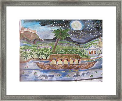 Framed Print featuring the painting Kerela  by Vikram Singh