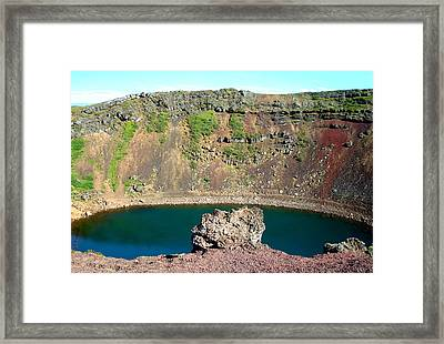 Kerio Crater Lake Framed Print