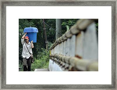 Kerja Framed Print by Achmad Bachtiar