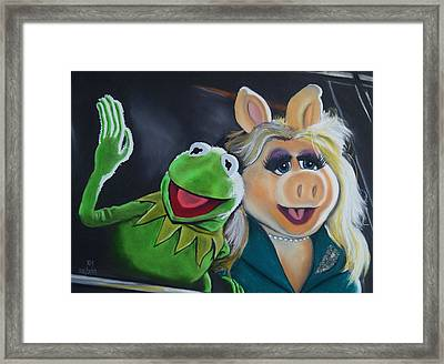 Kermit The Frog And Miss Piggy Framed Print by Kevin Hubbard