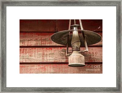 Kerosene Lantern Framed Print by Carlos Caetano