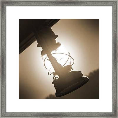Kerosene Lantern Framed Print by Mike McGlothlen