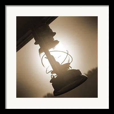 Oil Lamp Digital Art Framed Prints