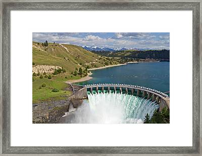 Kerr Dam Releasing Water Framed Print