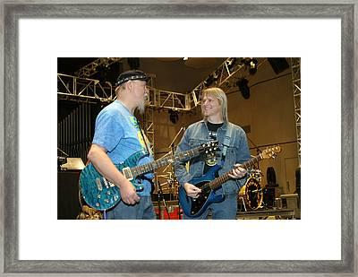 Kerry Livgren And Steve Morse Kansas Framed Print by Don Olea
