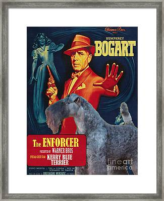 Kerry Blue Terrier Art Canvas Print - The Enforcer Movie Poster Framed Print
