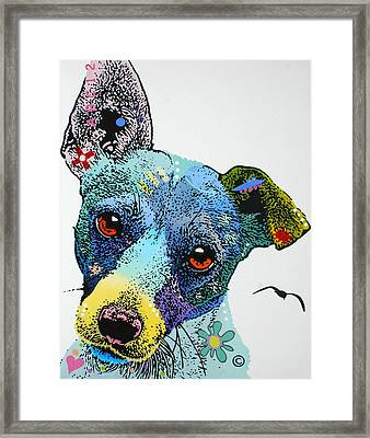 Framed Print featuring the painting Jack by Luis Ludzska