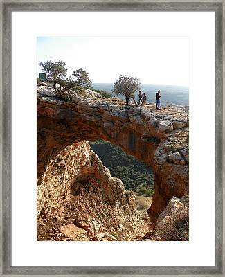Keshet Cave Framed Print by Noreen HaCohen