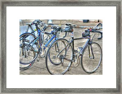 Kestrel And Specialized--ironman Rides Framed Print by David Bearden