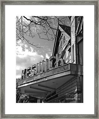 Keswick Theater Framed Print by Val Miller